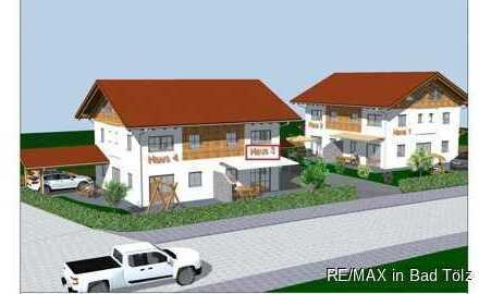 Waakirchen, Nähe Tegernsee: Neubau von vier DHH -  Haus 3 mit 255 m² Grund und Südterrasse