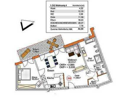 Barrierefreie 2 Zi. Wohnung für den Lebensabend, Aufzug, Garage und Stellplatz, 2 E-Bike Garagen