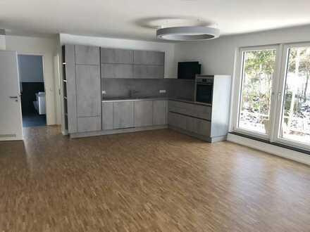 Ausstattung vom Feinsten! Ruhige 3-Zi.-EG-Wohnung inkl. Küche und TG-Stellplatz