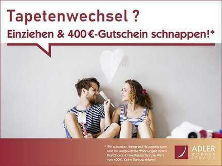 Tapetenwechsel gefällig? Dann bis 01.08. einziehen und 400 € Gutschein sichern.