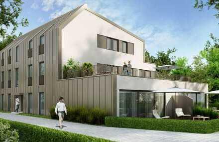 MAIER - NEUBAU-KFW55: Familienfreundliche Gartenwohnung mit Aufzug und Terrasse, WHG 1