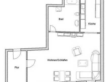 ** große 1-Raum Wohnung direkt im Zentrum **