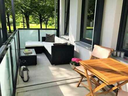 Exklusives Wohnen in Hannovers Zooviertel, im EG mit großem Balkon und Einbauküche