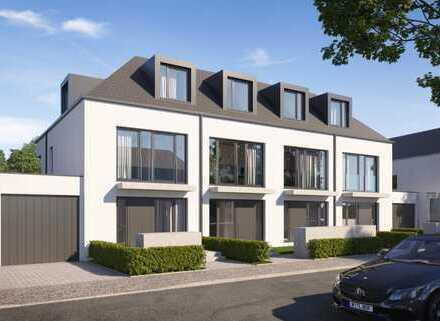 Neubau: Modernes, familienfreundliches Stadthaus mit Hobbyraum und Garten
