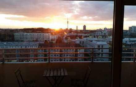 Schöne, geräumige und voll möblierte 1-Zimmer-Wohnung in München, Schwabing