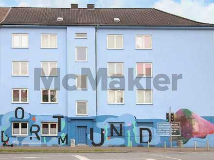 Zentrale Toplage in Dortmund-Hafen-Süd: Bewohnte 3-Zi.-ETW mit hohem Entwicklungspotenzial