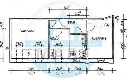 Helle 2-Raumwohnung im Dachgeschoss - auf Wunsch mit modernen Bad!