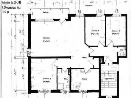 Vollständig renovierte 4-Zimmer-Wohnung mit Balkon in Münster