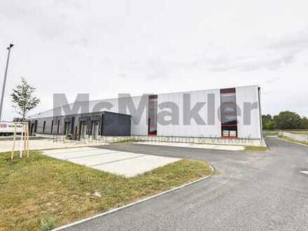Neubau einer Lagerhalle nahe des Autobahnkreuzes A7/A6