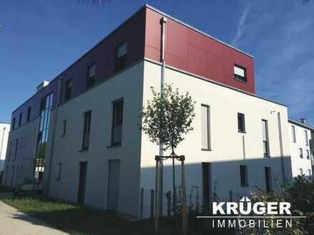 Stutensee-Büchig / helle und großzügige Neubauwohnung mit Terrasse, Badezimmern und zwei TG-Plätzen