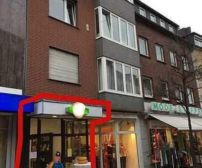Dinslaken Fußgängerzone: Ladenlokal mit Lager/Werkstatt in frequenzstarker Top-Lage