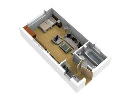 Möblierte, neu renovierte 1,5 Zimmer Wohnung in zentraler Lage zu verkaufen