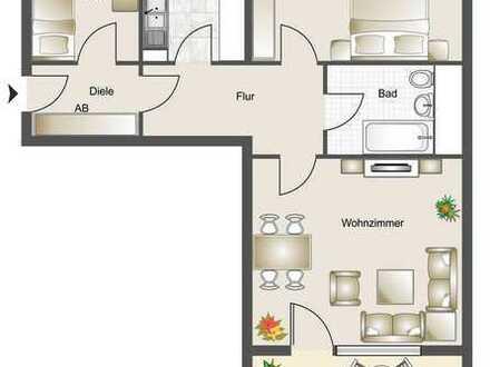 Bonn-Oberkassel - 3 Zimmer-Eigentumswohnung mit Balkon und Einzelgarage in zentraler Lage