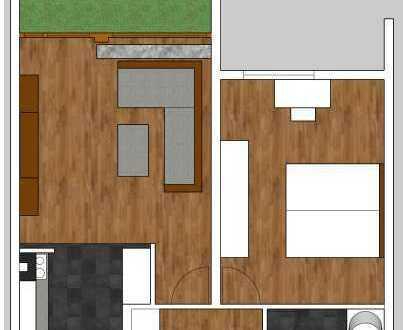 Schöne, helle, total renovierte 2 Zimmer Wohnung
