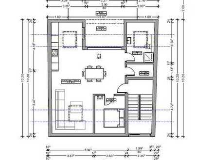Komplett renovierte 2 Zimmer DG-Wohnung 62m² *Zentrumsnähe*