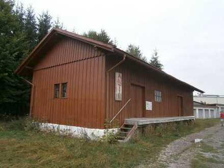 200m² unterkellerte Lagerhalle mit Rampe zu vermieten
