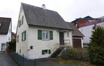 Großes Baugrundstück mit Haus und Garage bei Göppingen, Albershausen