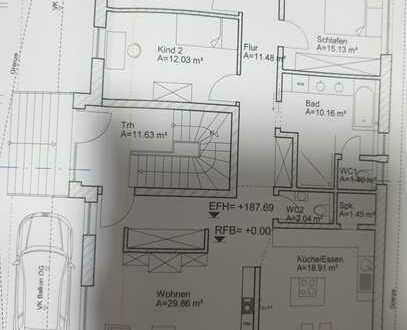 Neuwertige 4-Raum-Erdgeschosswohnung mit Balkon und Einbauküche in Langenbrettach