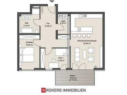 Neubau 3-Zimmer-Wohnung inkl. Tiefgaragenstellplatz
