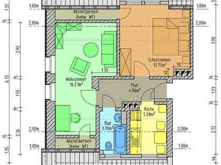 Gemütliche 2-Raum-Wohnung im Dachgeschoss mit Ausblick