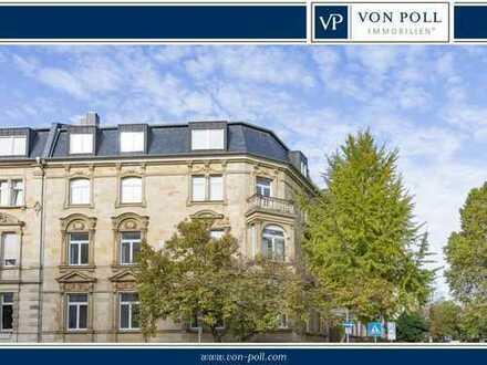 Herrschaftliche Bürovilla mit großzügiger Dachgeschosswohnung