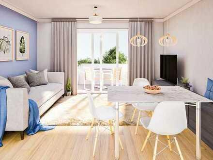 Elegante 4 Zimmer im Obergeschoss mit übergroßem Balkon!