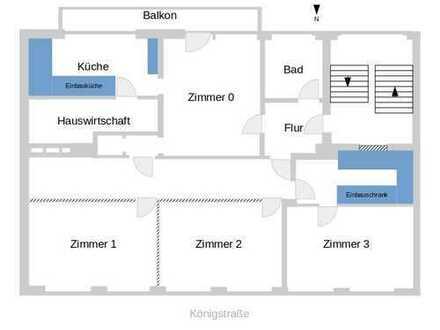 Gut ausgestattete WG-Wohnung in zentraler Lage