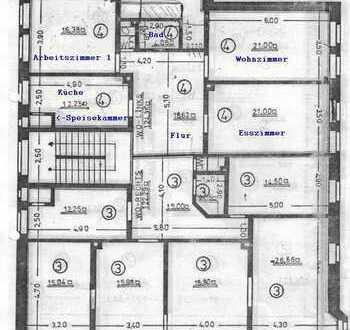 5-Zimmer-Altbauwohnung im östlichen Ringgebiet - provisionsfrei