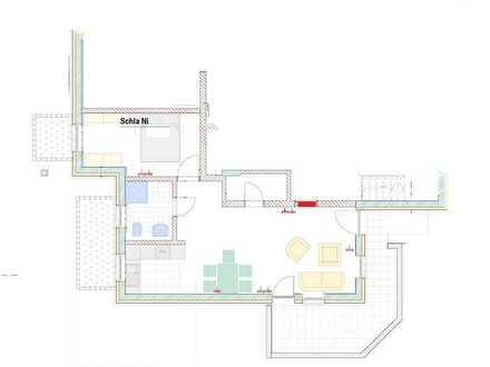 Einliegerwohnung mit zwei Zimmern sowie Freisitz und EBK in Hohberg-Niederschopfheim