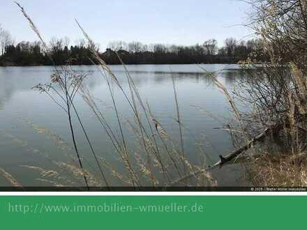 Angler-See mit Umgriff, ca. 6 ha, reizvolle Lage, nördl. v. Augsburg!