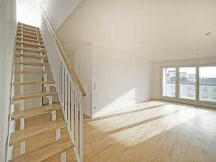Neubau KfW 70 Exklusive 2 Zimmerwohnung mit großer Süd-Dachterasse und Loggia