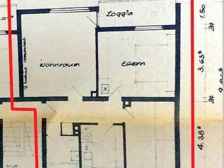 Vermietete Erdgeschoss-Eigentumswohnung in Südausrichtung mit Stellplatz, Loggia und Gartenanteil.
