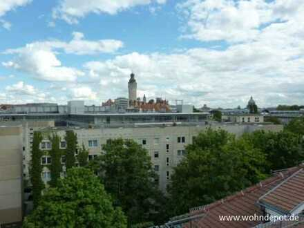 *** 2-Raum-Wohnung * Dachgeschoss * Dachterrasse * Parkett * Leipzig Zentrum-West ***