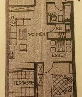 Teilmöblierte 2,5 Zimmer-Wohnung mit Terasse