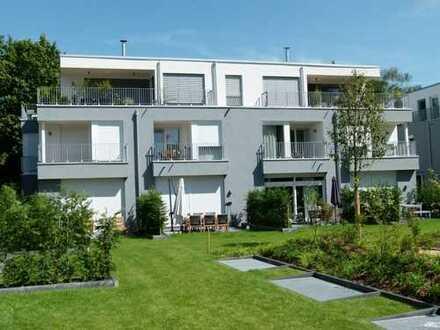 "Carreé Stockum 3-Zi. ""Maisonette Gartenwohnung"" Bauhausstil, nah zum Rhein gelegen, top Ausstattung!"