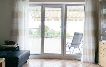 Gepflegte 4-Raum-Maisonette-Wohnung mit Balkon und Einbauküche in Wölfersheim