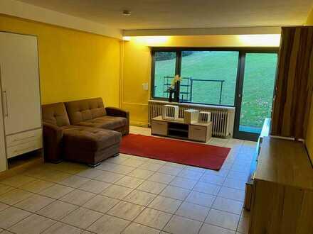 Teilmöblierte 1-Zimmer Wohnung mit EBK und Terrasse in ruhiger Lage