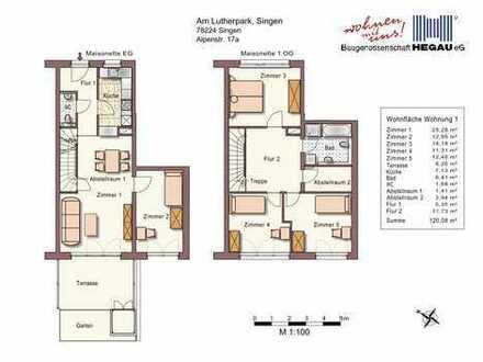 5-Zimmer-Maisonette-Wohnung in der Singener-City