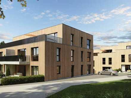 Aufgepasst: Provisionfreie 2 Zimmer-Wohnung NUR-Holz-Bauweise inkl. Terrasse KFW-55 Standard