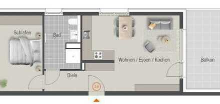 Leben im Lothar-Späth-Carré - Ihre neue 2-Zimmer-Wohnung