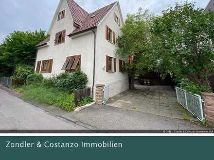 Wangen: Freistehendes 1-/2-Familienhaus * große Garage * Grundst. 226 qm * renovierungsbedürftig!