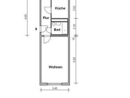 1 Raum Wohnung, 34.7 qm - Torgau Nordwest