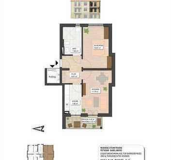 2-Zimmer-Wohnung mit Fahrstuhl in gepflegter Anlage (Zweitbezug, Barrierearm)