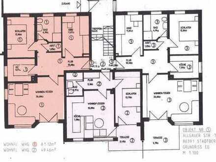 Gartenwohnung in Deuringen; 3Z; Kü; Bad; Garten; Garage; Abstellraum; Keller