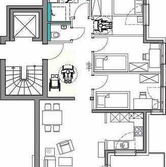 Sonnige 4-Zimmer-OG-Wohnung mit Balkon in Planung, Stuttgart-Rohracker