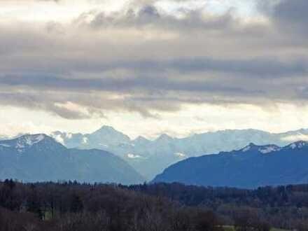 Baugrundstück mit fantastischem Panoramabergblick in Ortsrandlage