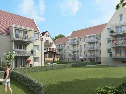 Erstbezug: stilvolle 2-Zimmer-Terrassen-WHG mit EBK und Garten im Herzen Schw. Gmünds