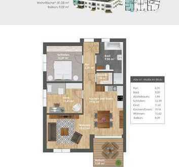 Wohncarré SULZPARK 2.0: Neubau 3-Zimmer-Obergeschoss-Whg. in Traumlage v. Beilngries/provisionsfrei
