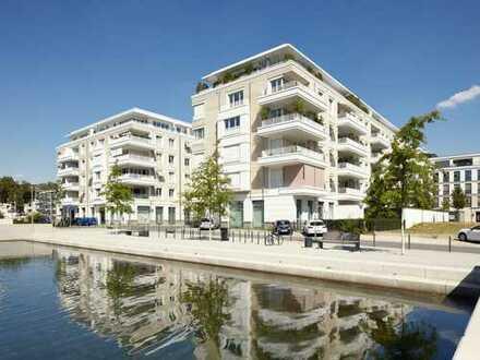 RIVIERA CANNES am BelsenPark: 3-Zi-Wohnung im 2. OG mit Lift. 2 Bäder. Einbauküche. Parkett. Balkon.