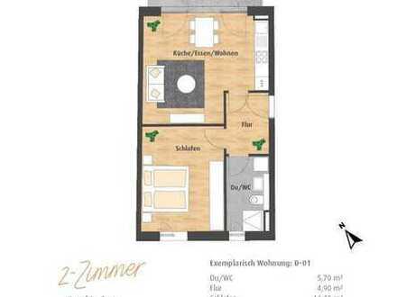 2-Zimmer-EG-Wohnung mit großer Terrasse und Gartenanteil im Hatz-Areal - Das Tor zur Innenstadt